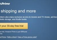 Start your Amazon Prime free trial